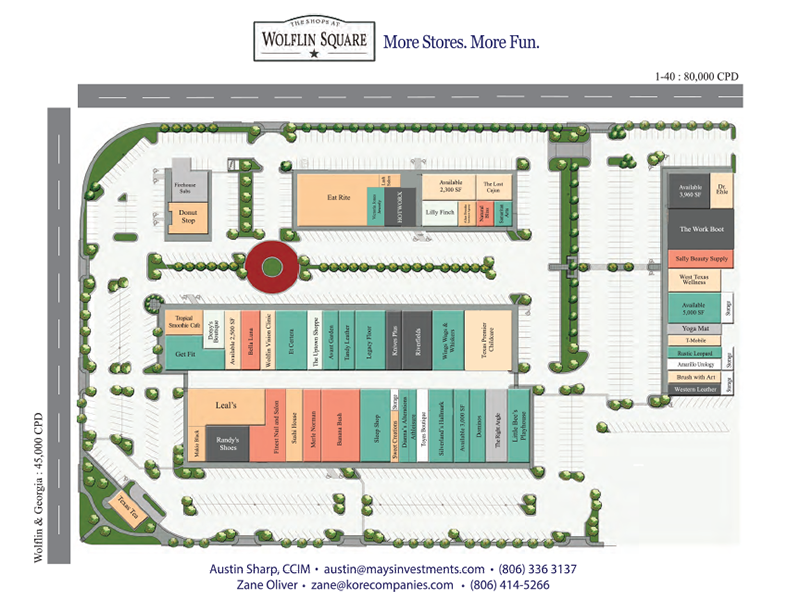 Wolflin Square Retail Map 2019